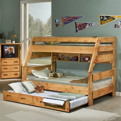chelsea home 3544720 4739 bunk bed with optional trundle home decor sale deals - Bed Frame Deals