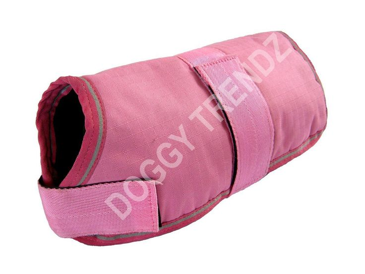 Waterproof Dog Coat Pink Fur Lining Raincoat Size 20' * Wow! I love this. Check it out now! : Dog coats
