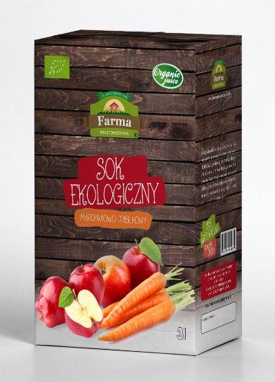 Sok marchwiowo jabłkowy Bio, 3 l - Farma Świętokrzyska