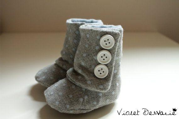 Botitas para bebé, Baby Boots, Baby Booties, Patucos on Etsy, $31.84