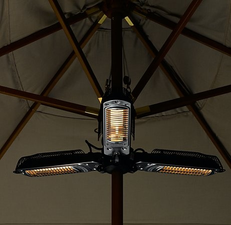 Perfect Umbrella Halogen Heater   Keep Party Guests Warm Under Outdoor Umbrellas  With These Heaters. This Version Found At Restoration Hardware.