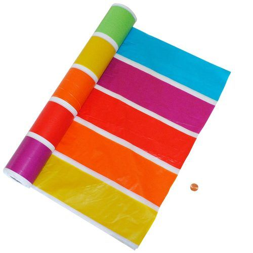 Rainbow Plastic Table Cloth Roll 100 Ft Long In 2019 Plastic