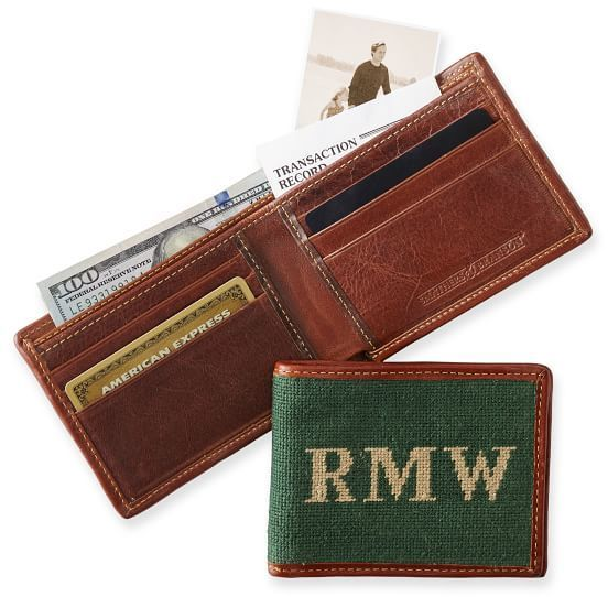 Personalized Needlepoint Wallet