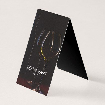 Restaurant Cafe Wine Glasses Classy Business Card Classy Gifts