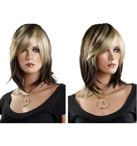SureWells Nice wigs New Products 15% Off Sexy Charming Oblique Bangs Golden Brown Medium Women Wigs Lace Wigs for Women Lady Hair Wigs Store Party Cosplay Wig by SureWells. $23.79