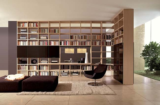 Bookshelves make fantastic dividing walls.