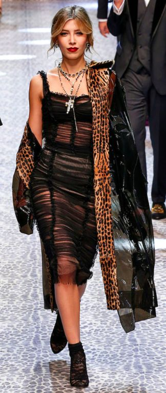 Dolce&Gabbana Outono inverno 2017/18 MFW - transparência sensual