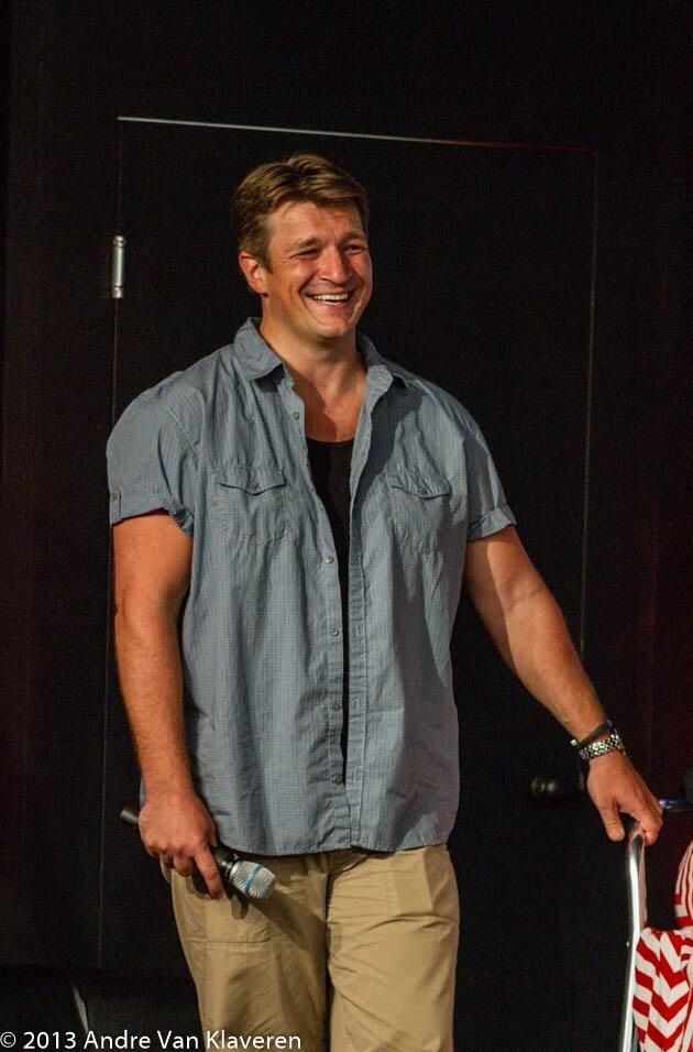 so handsome | Nathan Fillion at NerdHQ panel - I was there! In the front row!! I felt so lucky! <3 Tami