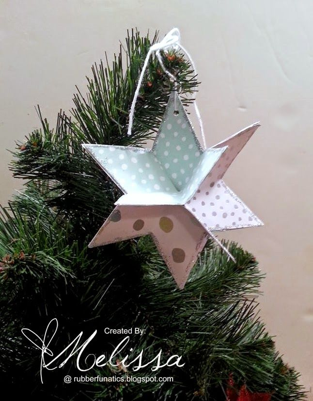 Stampin' Up! All Is Calm Star Ornament by Melissa Davies @ rubberfunatics