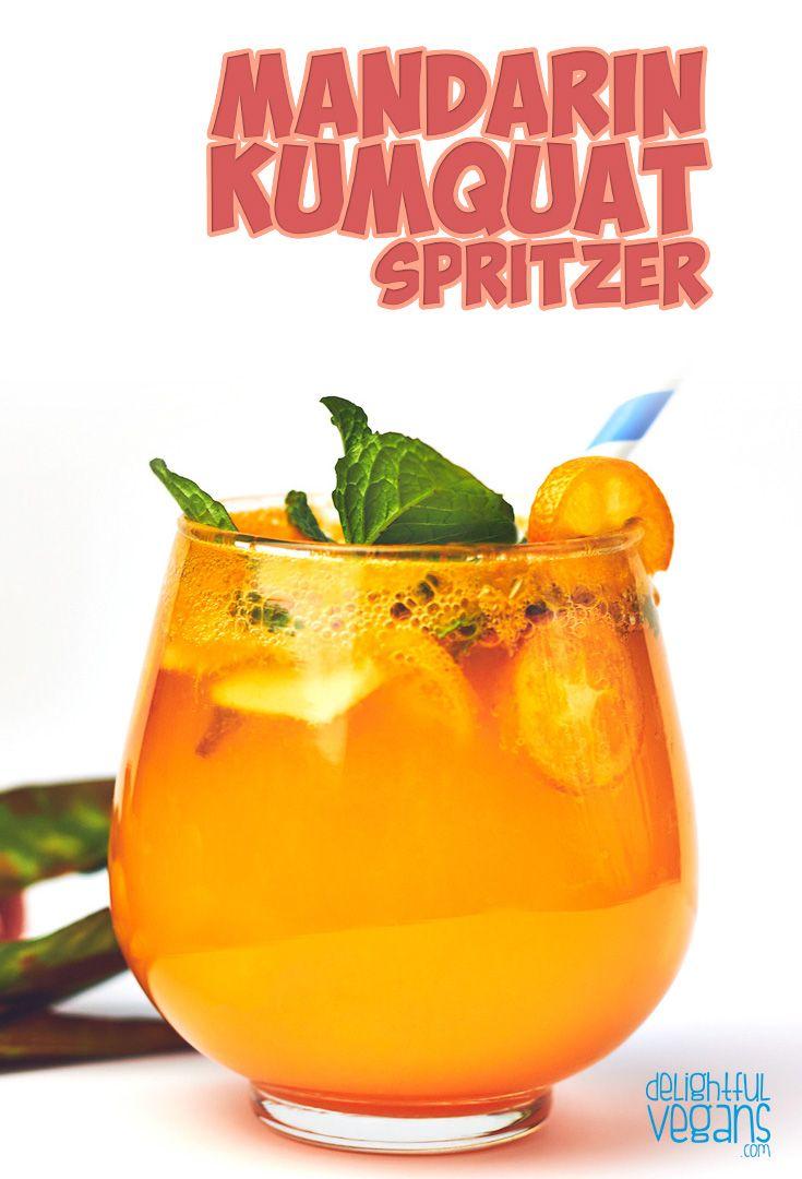 Delicious MANDARIN kumquat spritzer!