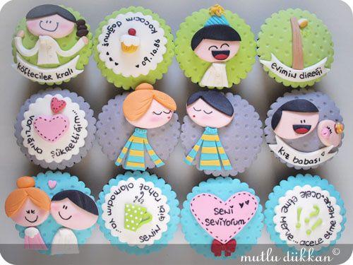 DOĞUM GÜNÜ CUPCAKE'LERİ   Mutlu Dükkan - Butik Kurabiye, Cupcake ve Pastalar