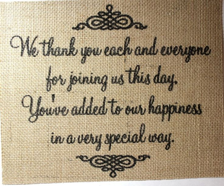 Rustic Vintage CHIC Country Burlap Wedding Sign WE THANK YOU FOR SHARING 8X10 in Home & Garden | eBay
