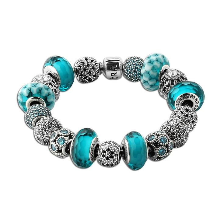 A Significant Discount For Pandora Gypsy Teal Charm Bracelet(WPOSL0) - fantastic…