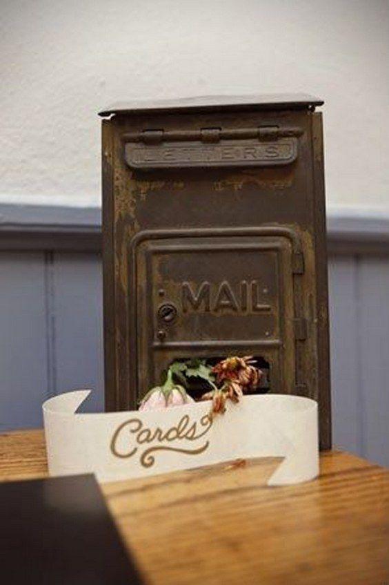 vintage wedding card box ideas / http://www.himisspuff.com/mailbox-wedding-decor-ideas/8/
