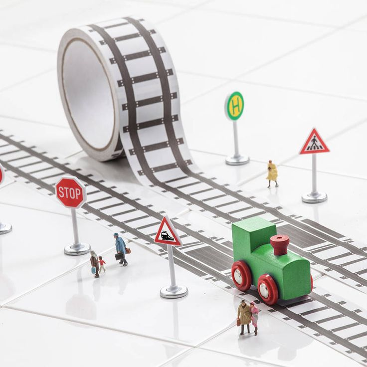 Fun Train Track Tape And Train Set