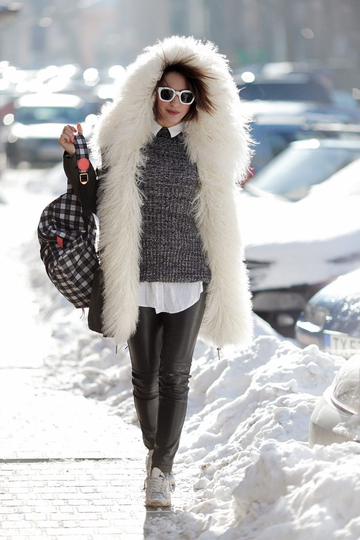 cold weather outfit, winter outfits, cold winter outfits, fur parka outfit,