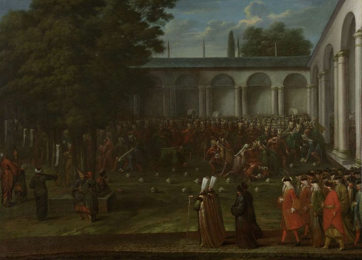 Cornelis Calkoen on his Way to his Audience with Sultan Ahmed III, Jean Baptiste Vanmour, , c. 1727 - c. 1730