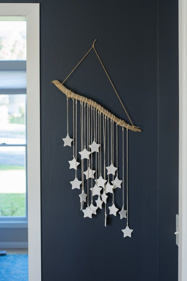 DIY hanging clay stars