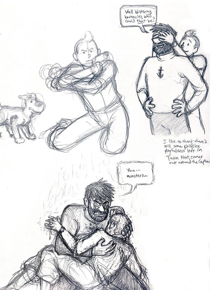 Tintin and Haddock doodles by ~PHUZface1 on deviantART