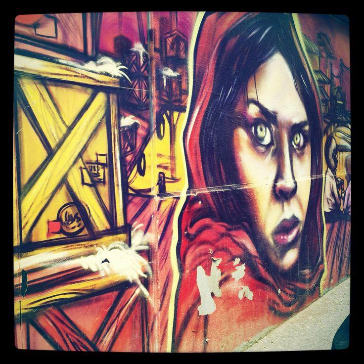 Found this mural in Toronto off Adelaide street west. Afghan girl. Street art.