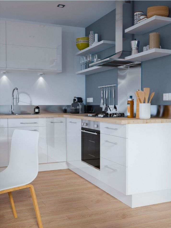 Facade De Cuisine 1 Porte Blanc Gossip 40 Cm En 2020 Cuisines Dans Salon Meuble Cuisine Blanc Cuisine Moderne