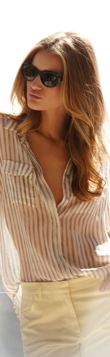 Rosie Huntington Whiteley in an AMAZING shirt.