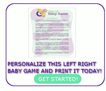 Left Right Baby Shower Game  Baby Left Right Games