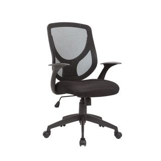 AC Pacific Black Adjustable Swivel Office Chair With Mesh Seat and Back