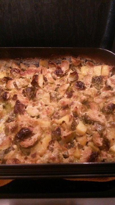 Rosenkohlauflauf mit Hackfleisch und Kartoffeln 6