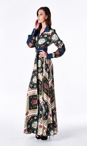 Long sleeve button up maxi dress