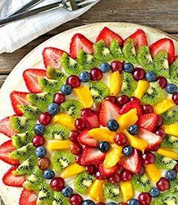 Pratos decorados com frutas