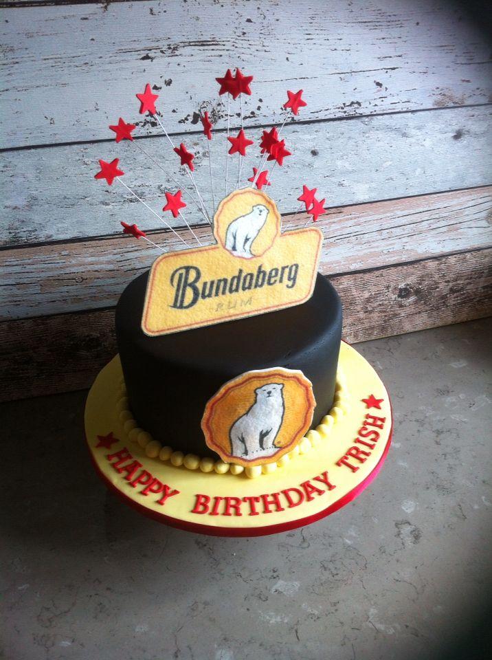 Bundaberg Rum themed cake.