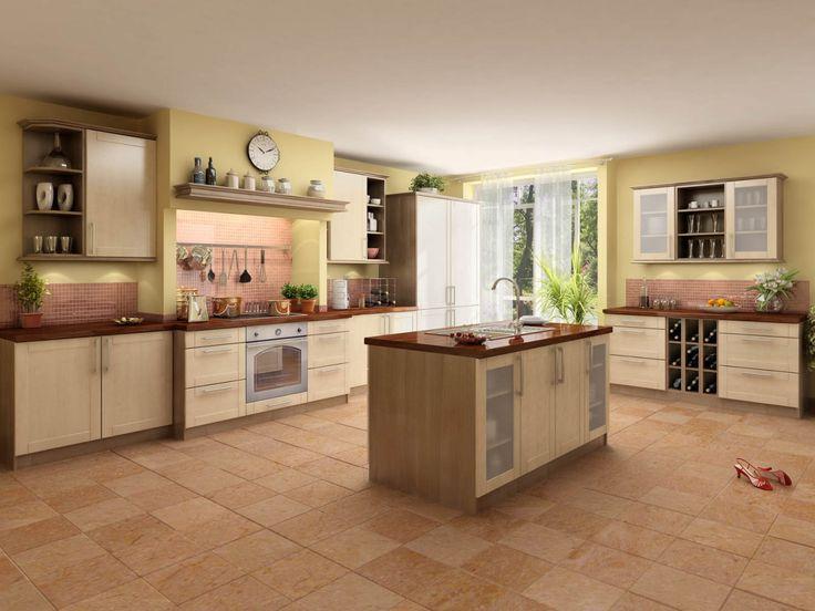 Toscana moderní kuchyň ve světlém odstínu s ostrůvkem / kitchen with island