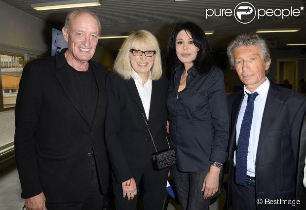 Exclusif - Pascal Desprez, Mireille Darc, Yamina Benguigui et Yves Dahan - Mireille Darc et Yves Dahan reçoivent la médaille d'honneur du Doyen pour services rendus aux patients, à la recherche et à la médecine à la faculté de médecine à Paris le 17 juin 2014.