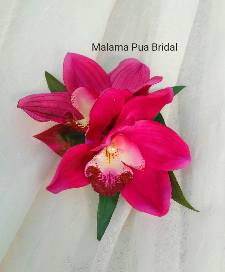 Tropical Hair clip, silk orchid, hair accessory, hair flower, Bridal clip, Wedding Headpiece, Hawaiian, hair clip, Hair piece, hair comb by MalamaPuaBridal on Etsy