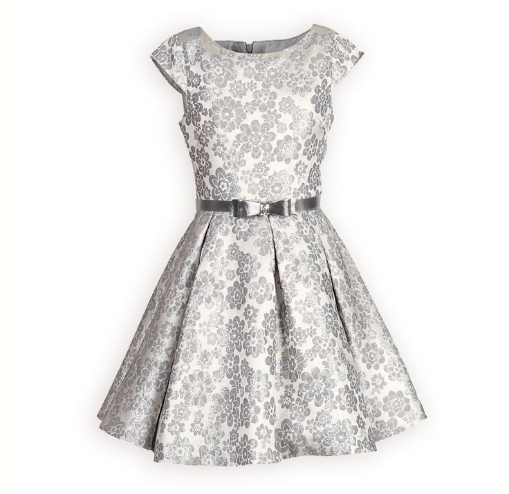 Silver Royalty Swing Dress
