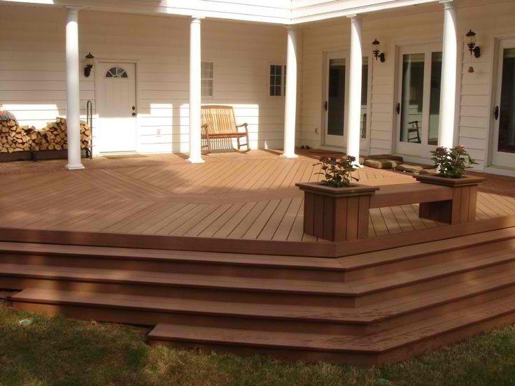 83 best images about terrasse composite composite deck for Fiberon vs trex
