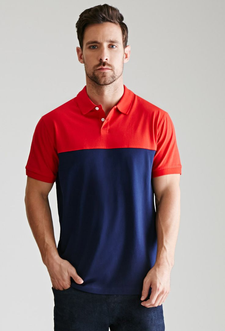 Colorblocked Cotton Polo | 21 MEN | #f21men
