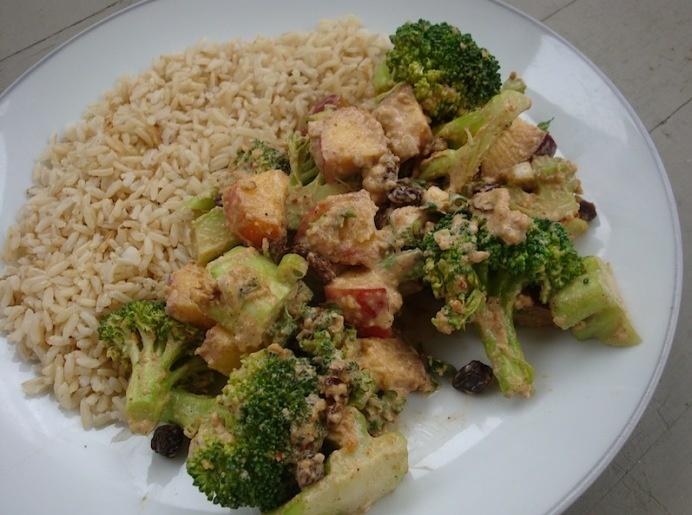 North African Peanut Butter-Broccoli-Peach Salad