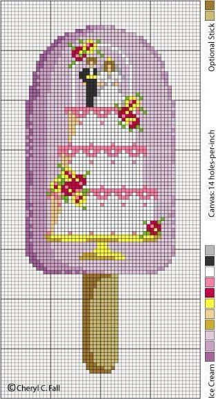 Cake wedding cross stitch.