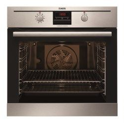 AEG BP300302KM Multifunction Electric Built-in Single Oven With Pyrolytic Cleaning Antifingerprint Stainless Steel   Appliances Direct