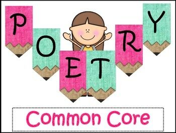 63 pages #1 Students will read 4 poems and answer multiple choice questions, open ended questions (citing evidence), and compare and contrast parts of a poem and two different poems. #2 Interactive Poetry Book.13 poems for students to write with 13 examples.Each page has the type of poem listed at the top.
