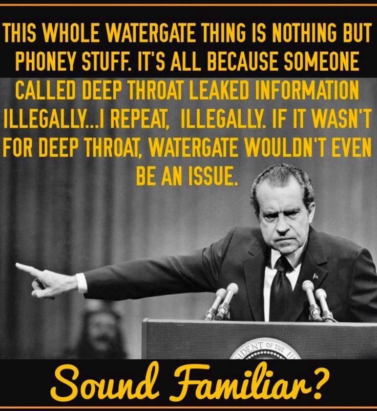 THESE ARE THE EXACT WORDS OF THAT CROOK RICHARD NIXON!! Words that are used by The Current Lying Crook in the White House!!