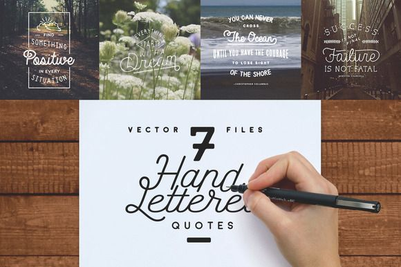 7 Hand Lettered Quotes by Means For Makers on Creative Market  #handlettering #typography #handmadetype #quote #inspiration #design #designresources #makers #vectorgraphics #vector #printables #blog #blogdesign #blogresources