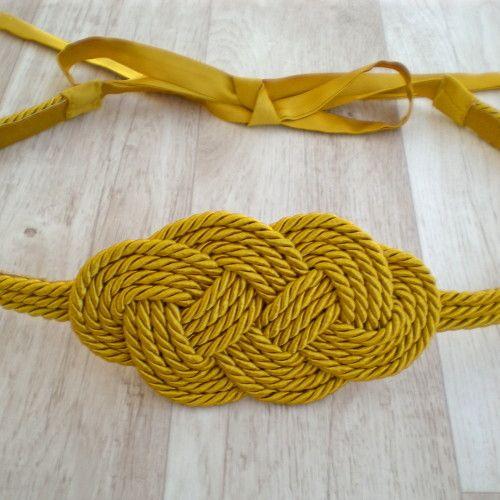 Cintur n nudo marinero cinturones y fajines pinterest - Nudos marineros para pulseras ...