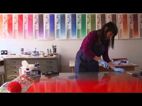 Monotype Printing with Akua Inks - YouTube