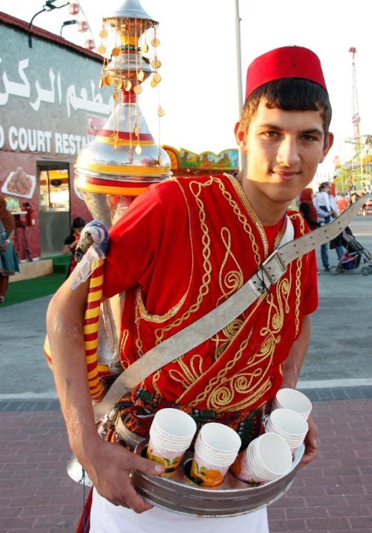 Turkish drink vendor, Global Village, Dubai