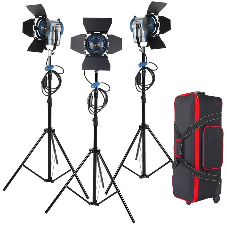 544.35$  Buy now - http://alicse.shopchina.info/1/go.php?t=1943997426 - 3 X 650W Studio Fresnel Tungsten with dimmer control Spotlight Video Light Kit Lighting with Carry Case Free shipping  #buychinaproducts