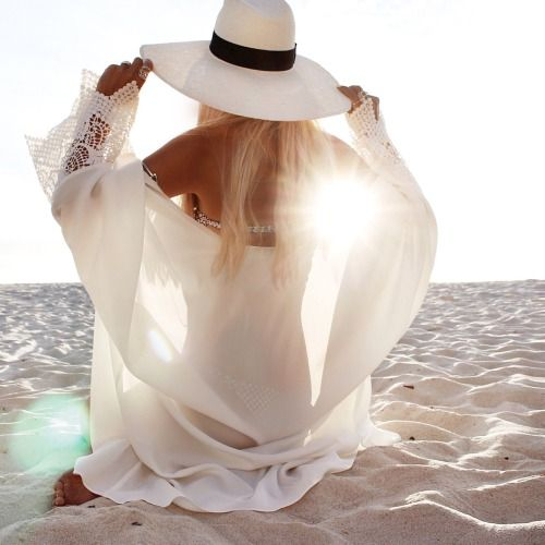 Hippie chic on the beach. Love the white shirt. For more follow www.pinterest.com/ninayay and stay positively #pinspired #pinspire @ninayay