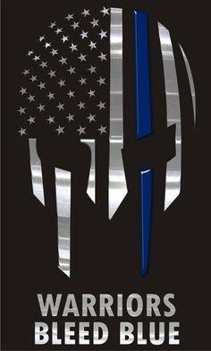 Warriors Blue Blue Thin Blue Line Decal